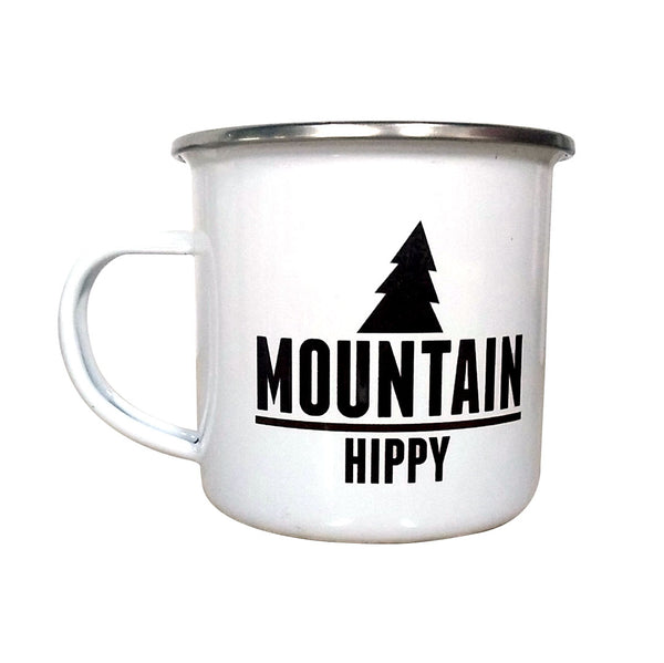 Mountain Hippy Enamel Mug