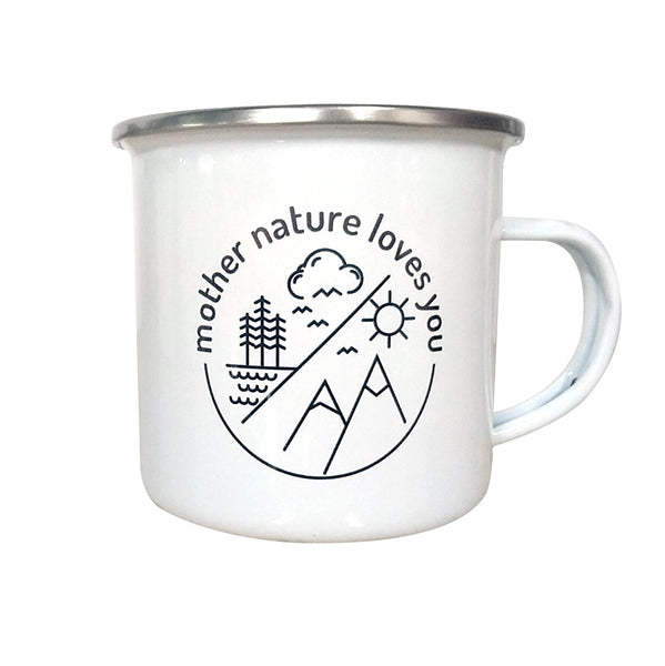 Mother Nature Enamel Mug