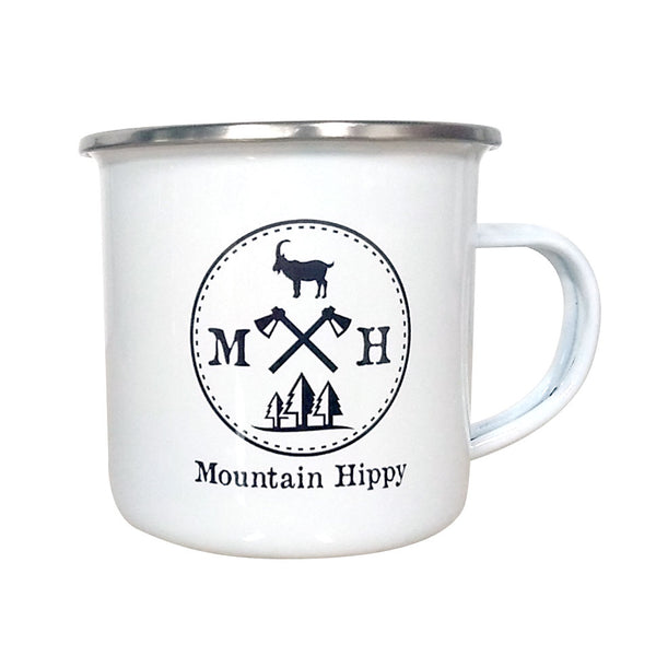 Pines And Goat Enamel Mug