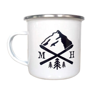 Open image in slideshow, Ski Enamel Mug