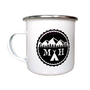Open image in slideshow, Tent Enamel Mug