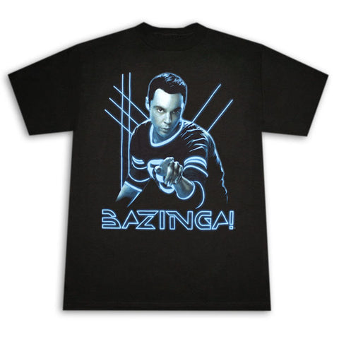 Big Bang Theory Bazinga! Glowing Sheldon Men's T-Shirt (Clearance)
