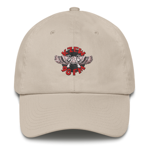 98 KZEW -FM Vintage Style Winged Zooloo Embroidered Cotton Cap (Made in the USA)