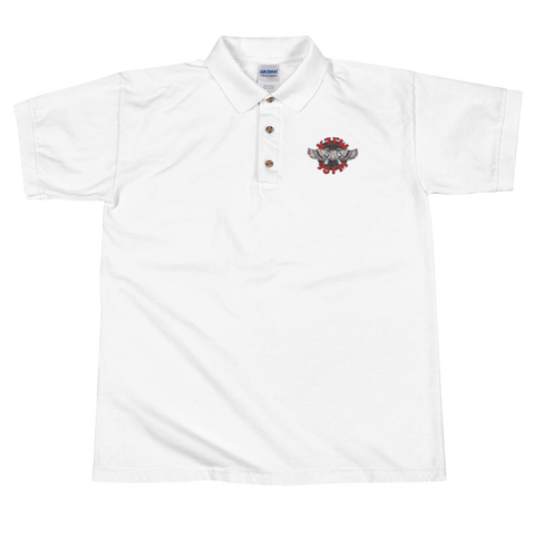 98 KZEW -FM Vintage Style Winged Zooloo Embroidered Polo Shirt