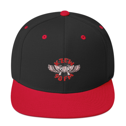 98 KZEW -FM Vintage Style Winged Zooloo Embroidered Snapback Hat
