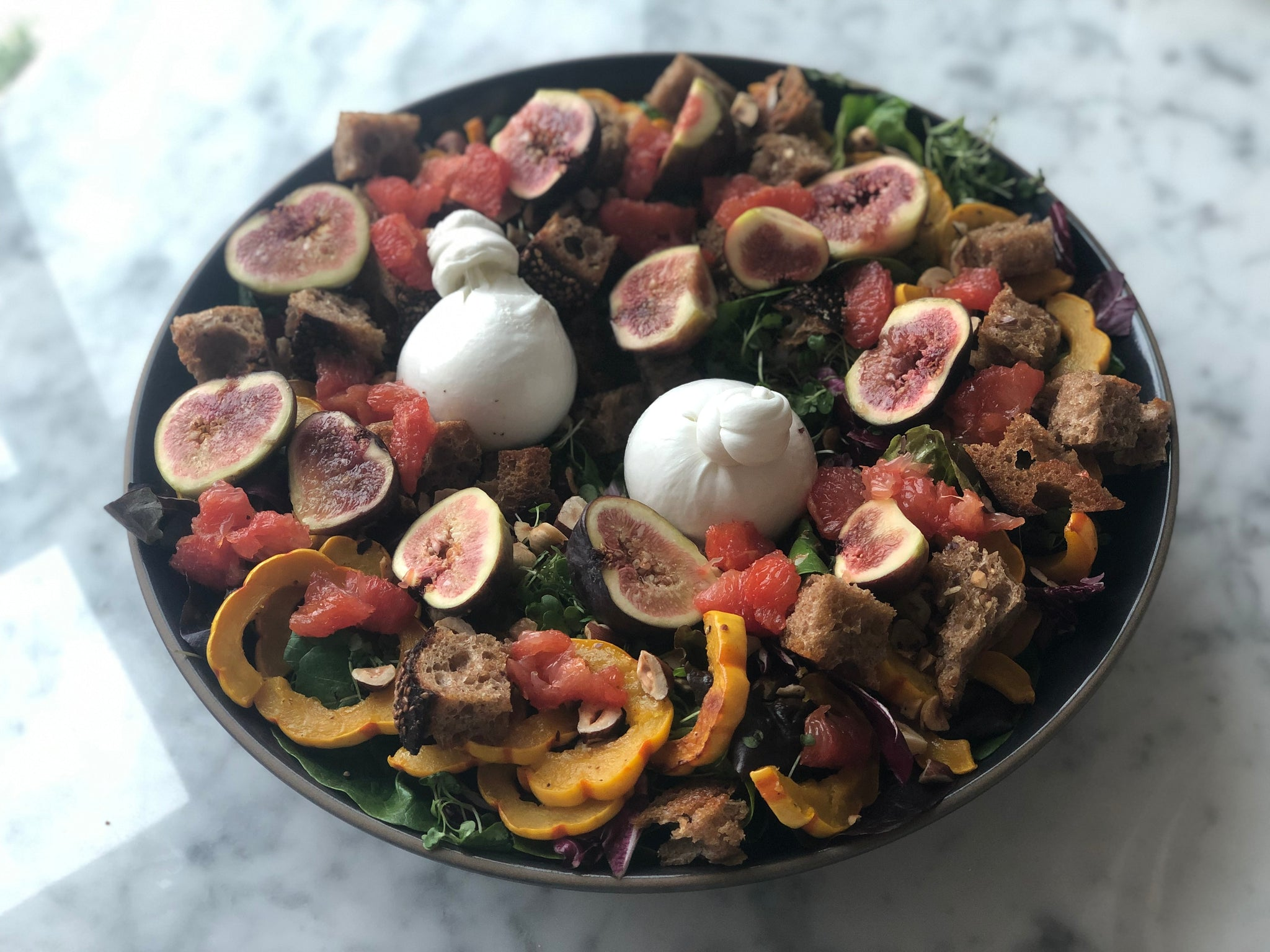Squash and Burrata Salad