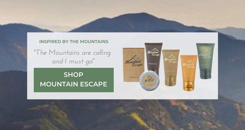 Mountain Escape luxury hotel soaps and shampoos