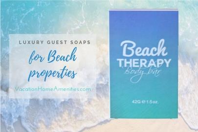 Beach Therapy individually wrapped hotel guest soaps
