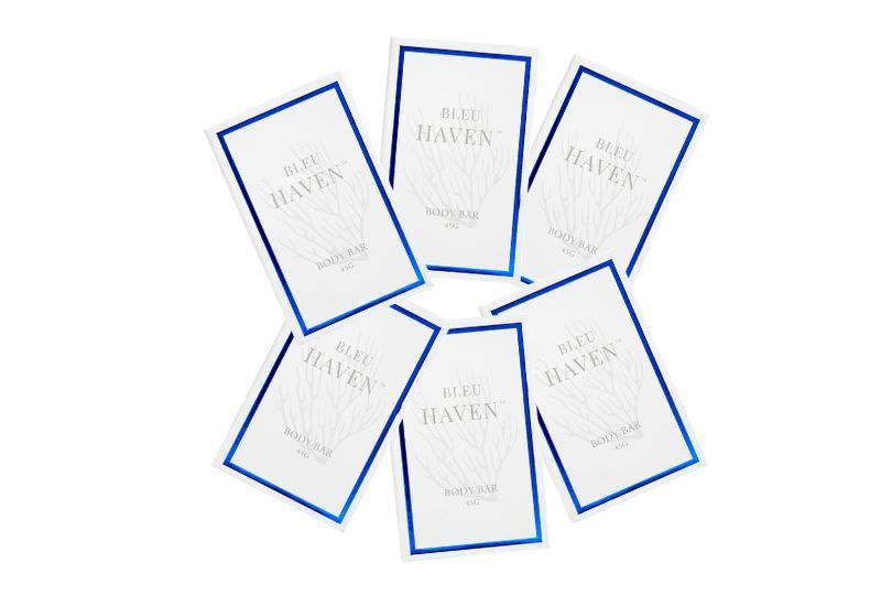 hotel soap bars bleu haven