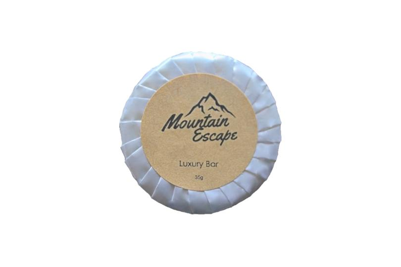 mountain escape individually wrapped guest soap