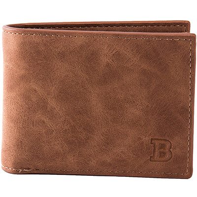 Leather Wallet with Zipper Coin Bag