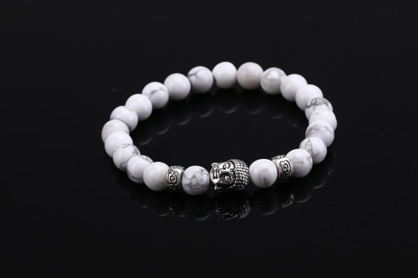 Men's Natural Lava Stone Buddha Bracelet