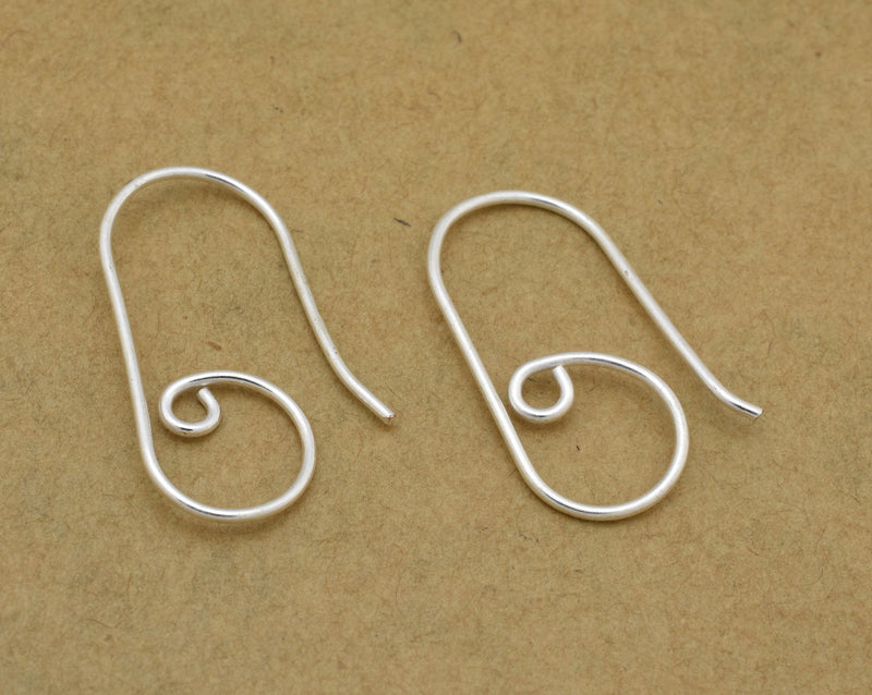 30pc - Handmade Silver plated ear wires for jewelry making, earring findings, designer ear wires  28mm Long