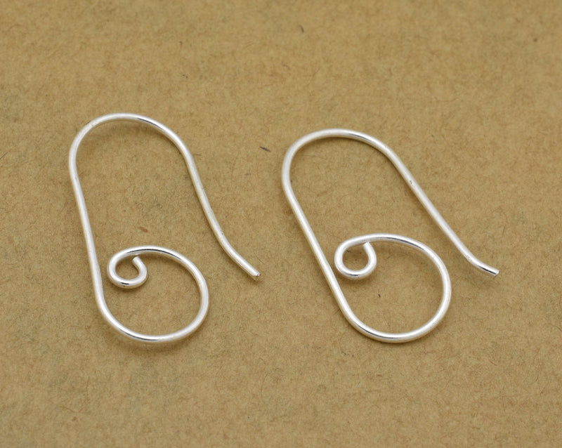 30pc - Handmade Silver plated ear wires for jewelry making, earring findings, designer ear wires  24mm Long