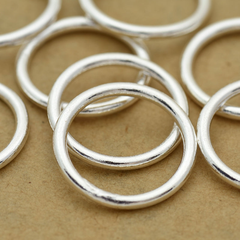 18mm - 8pc Large Silver Jump Rings