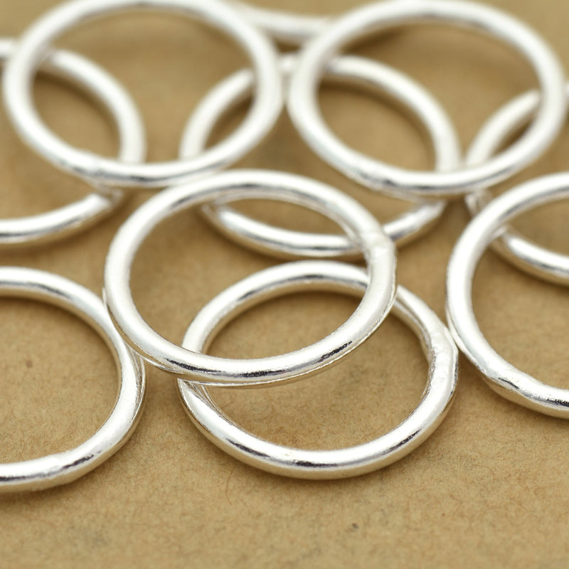 16mm - 10pc Large silver jump rings, 14 Gauge