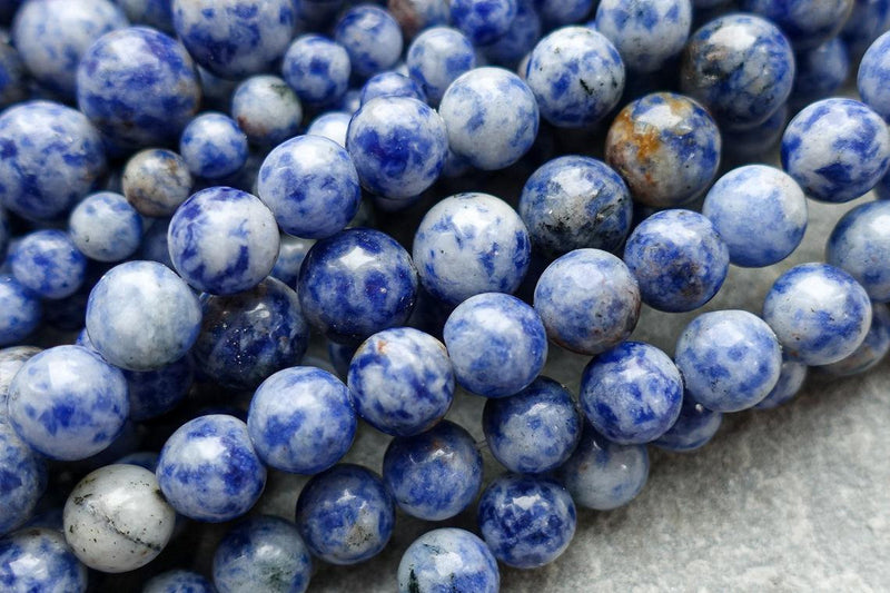 "8mm Natural Brazil Sodalite Beads, Round Blue gemstone beads, loose beads or 1 strand, 15"" Strand"