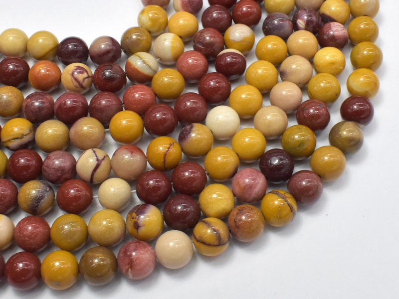 "8mm Mookite Beads, Rs Natural Gemstone Round Loose 15"" Strand"