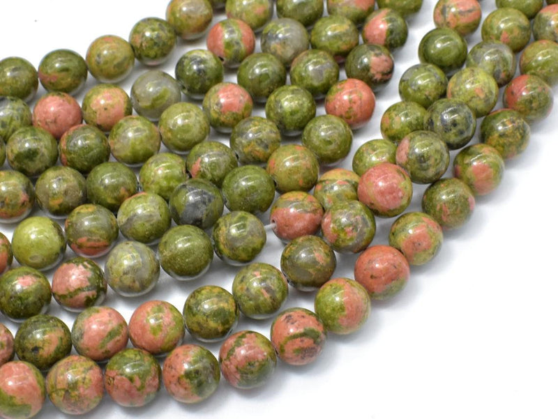"8mm Unakite Beads Full 14.5"" Strands - Wholesale Available"