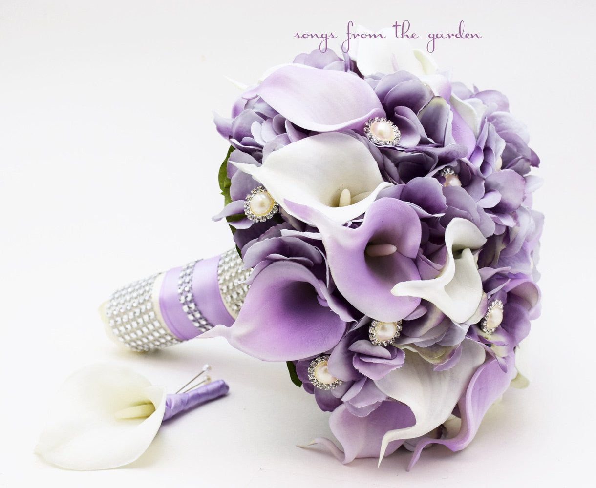 Lavender white real touch calla lily wedding bouquet songs from lavender white real touch calla lily wedding bouquet izmirmasajfo