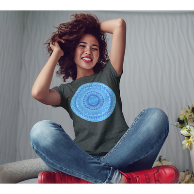 Blue Diamond Mandala T-Shirt