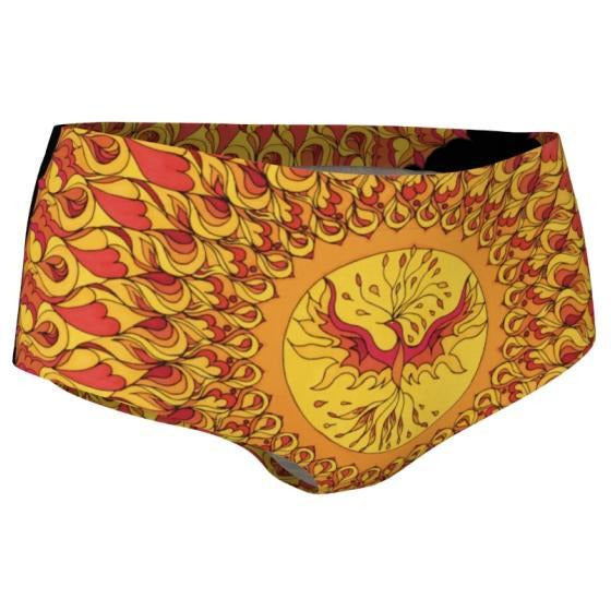 Mini Shorts - Phoenix Mandala