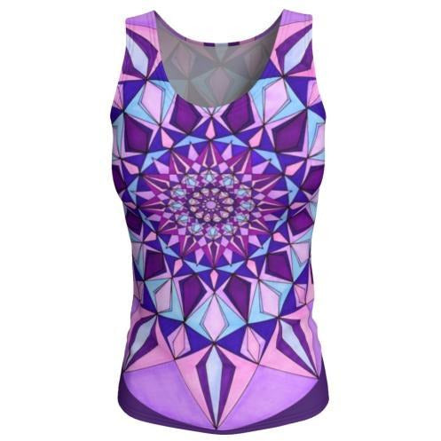Tank Top, Long - Amethyst Mandala
