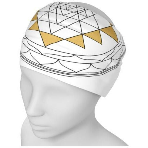 White Sri Yantra - Headband
