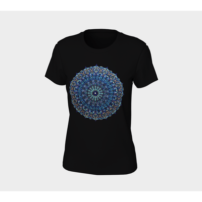 Women's Boho T-Shirt - Seed of Life Mandala-Women's Tee (B+C 6004)-High Temple of Light-High Temple of Light