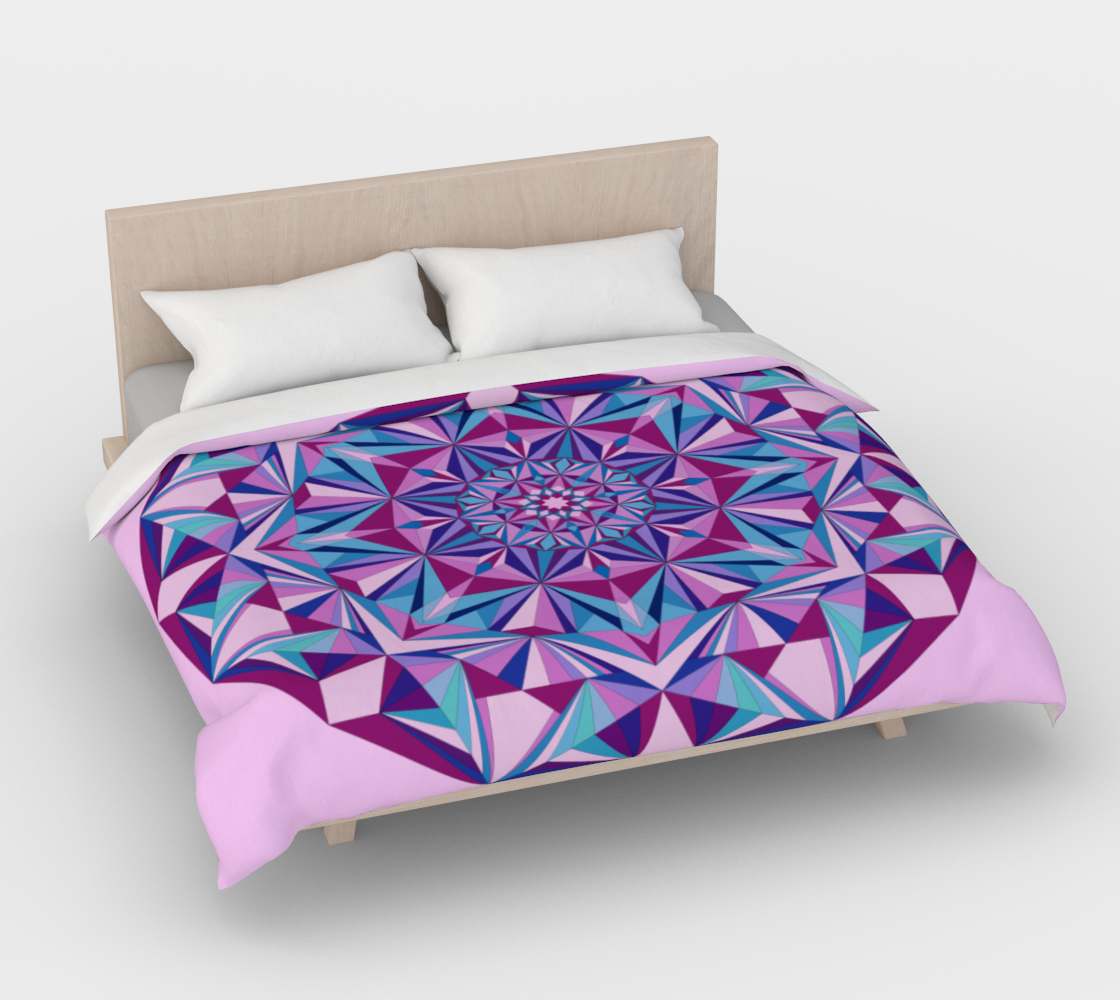Duvet Cover Pink and Blue Diamond Light