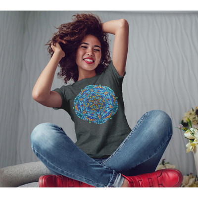 Orange and Blue Mandala T-Shirt