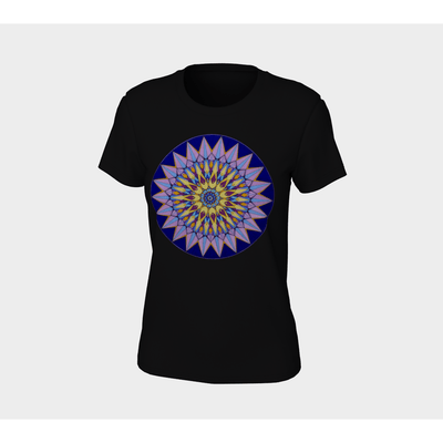 Women's Boho T-Shirt - Crown Mandala-Women's Tee (B+C 6004)-High Temple of Light-High Temple of Light