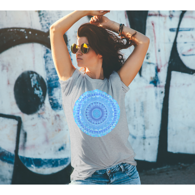 Men's Boho T-Shirt - Blue Diamond Mandala