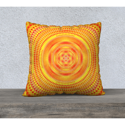 orange pillowcase