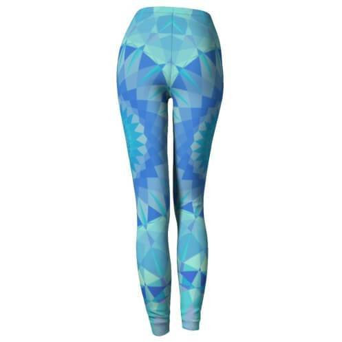 vibrant blue yoga leggings