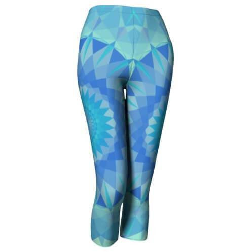 Aqua Blue Capri Leggings