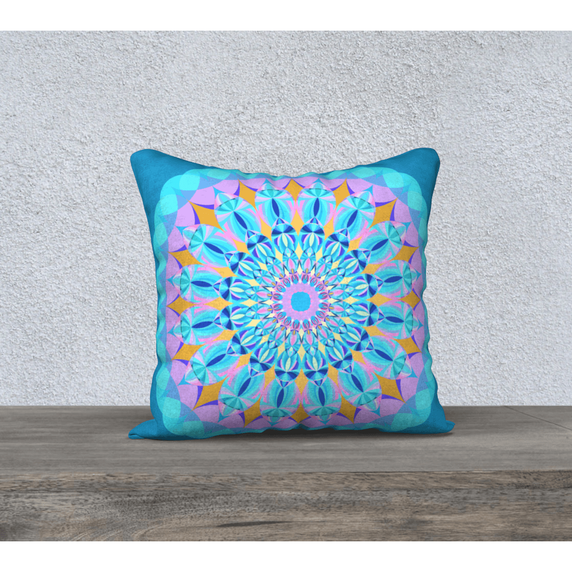 Bright pastel square pillow case