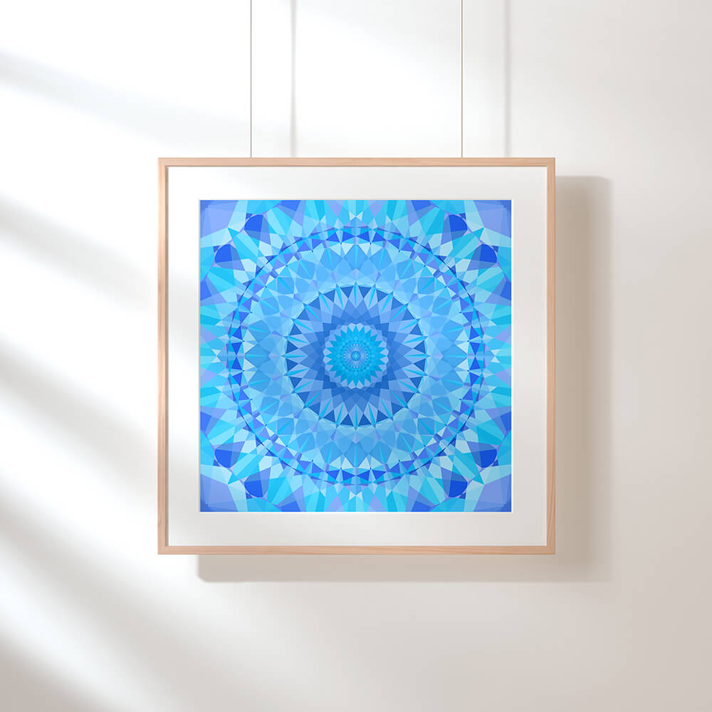 Blue Diamond Fine Art Print
