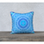 "Blue pillowcase - Square 18""x18"" - Blue Diamond Design"