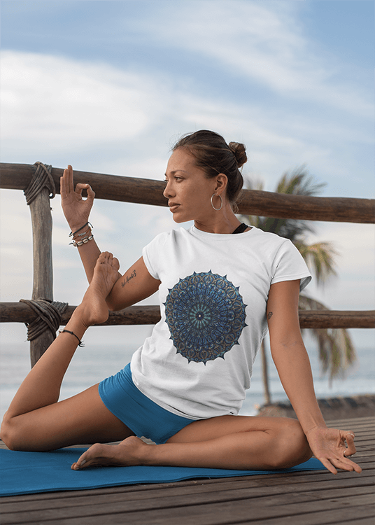 Women's Boho T-Shirt - Seed of Life Mandala