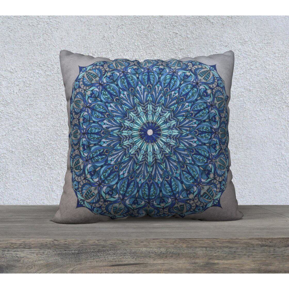 blue seed of life pillowcase