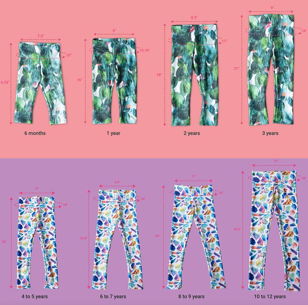 Children's Leggings - Green Ray