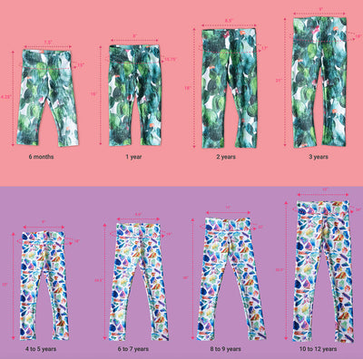 Children's Leggings - Blue and Pink Diamond Light