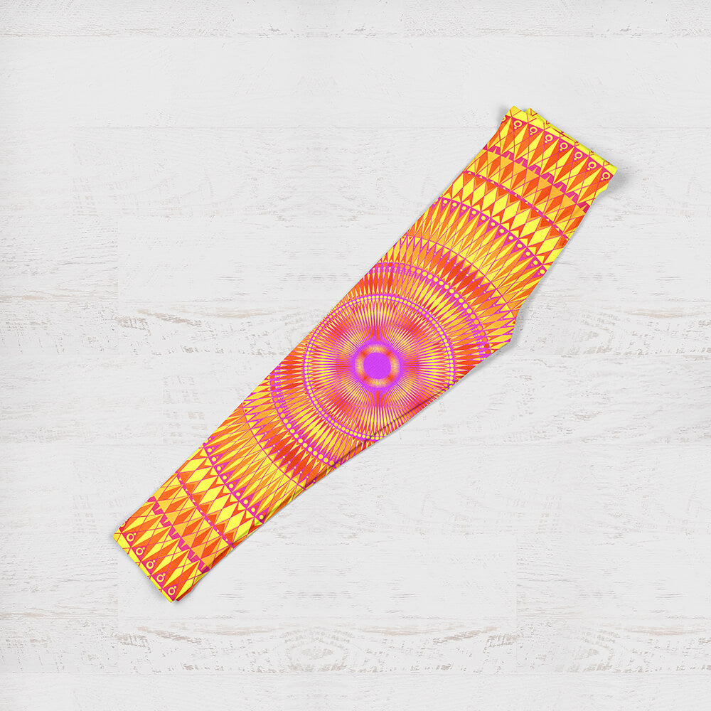 Children's Leggings - Vibrant Orange and Pink