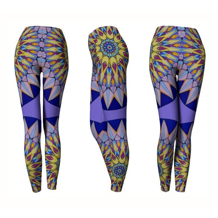Purple and Blue Mandala Leggings - The Crown Mandala