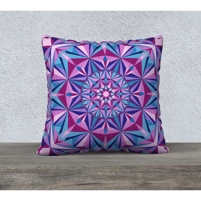 pink and blue diamond pillowcase