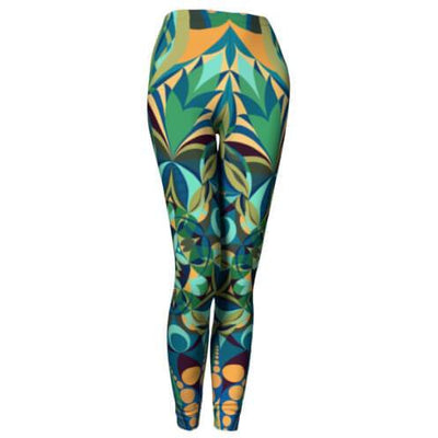 Green and Yellow Mandala Leggings - Green Gaïa Mandala