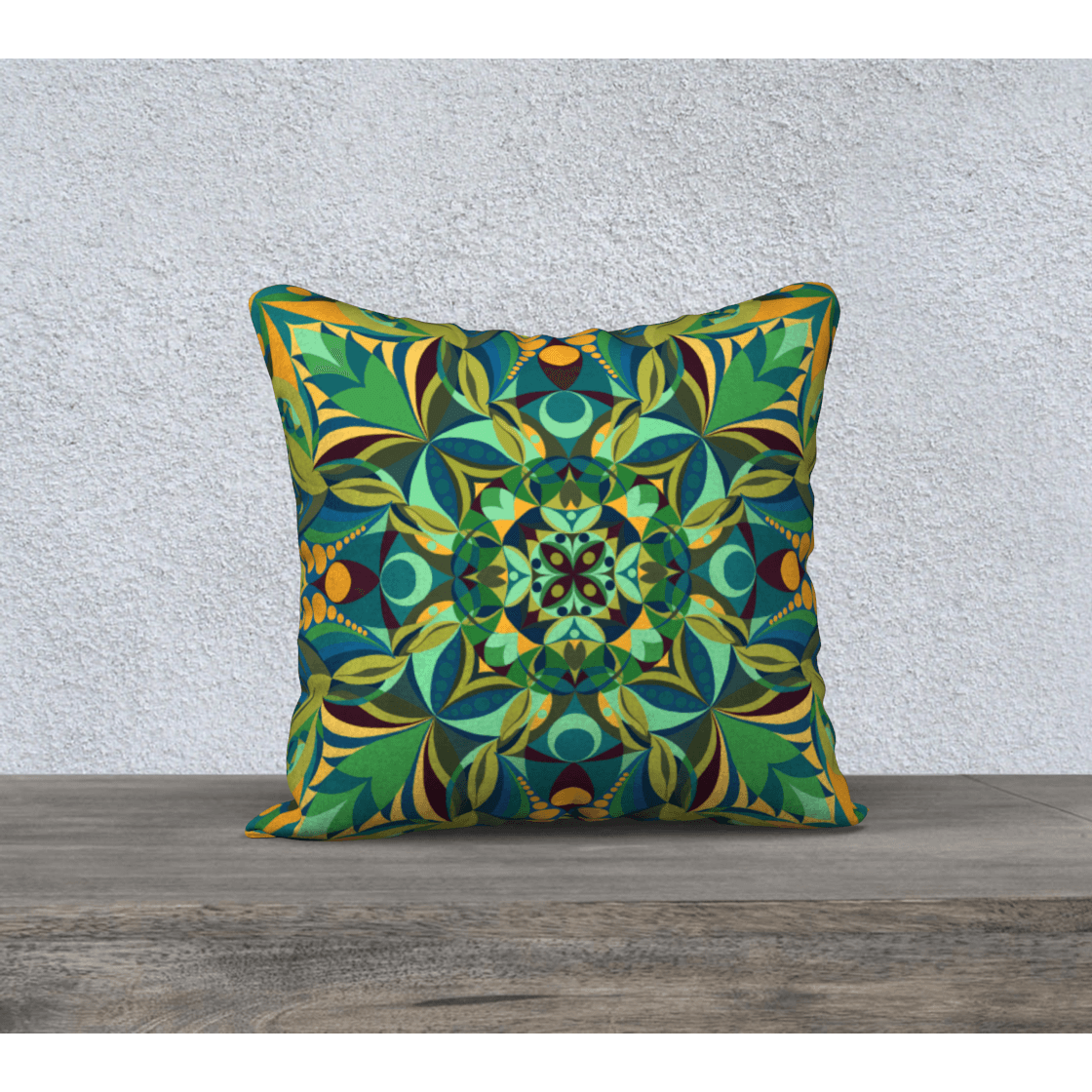 Yellow and Green Pillowcase