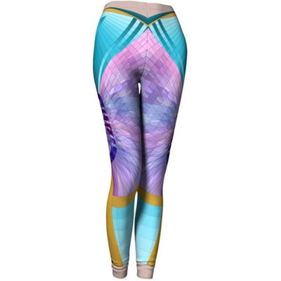 purple and turquoise leggings