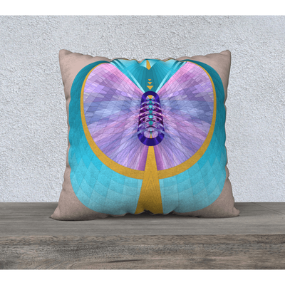 "Pastel pillowcase - Square 22""x22"" - Hathor Design"